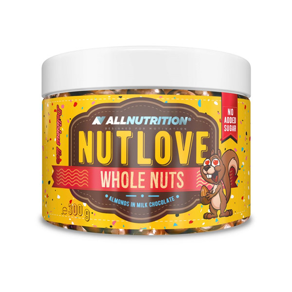 Nutlove Whole Nuts 300g. - Almonds In Milk Chocolate AllNutrition