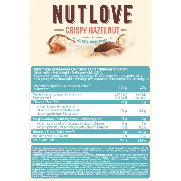 Nutlove Crispy Hazelnut - 500g AllNutrition
