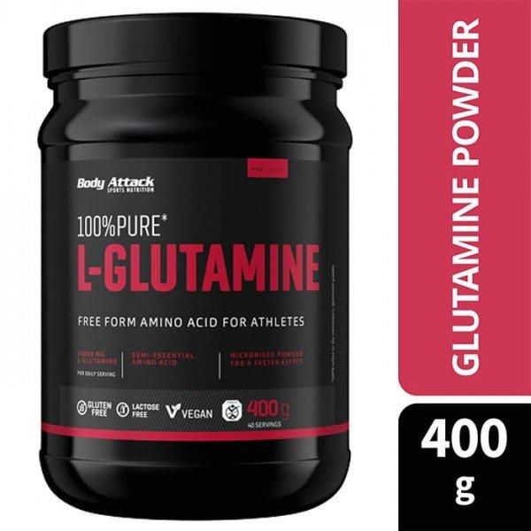 100% Pure L-Glutamine 400g.  Body Attack
