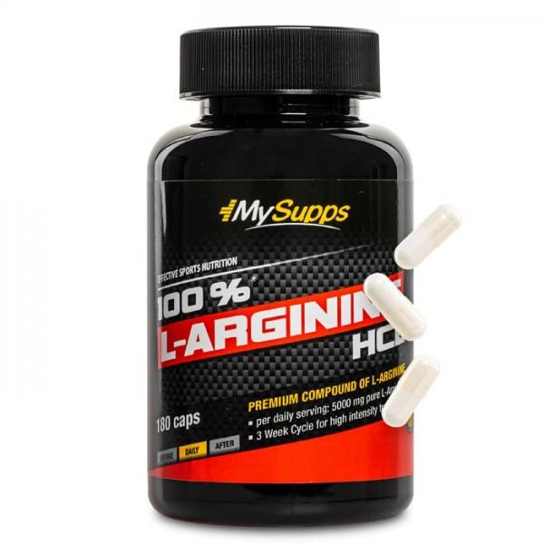 100% L-Arginine HCL - 180 Caps MySupps