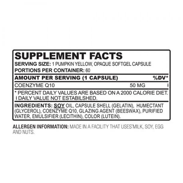 Coenzyme Q10 60 caps Vitalab