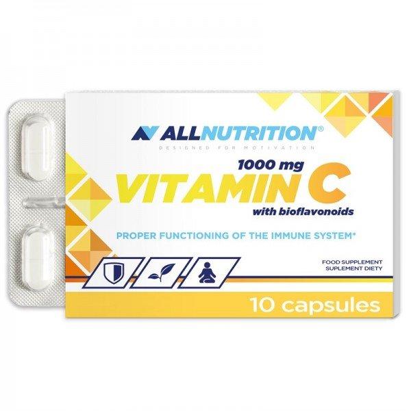 VITAMIN C WITH BIOFLAVONOIDS  - 10caps AllNutrition